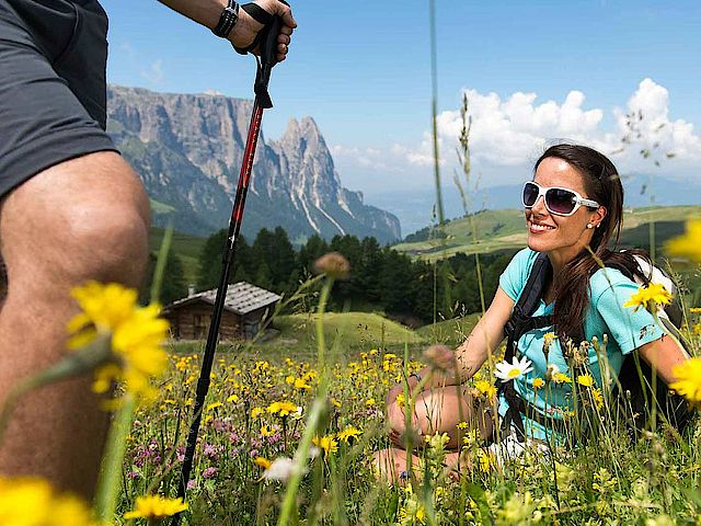 Explore the Alpe di Siusi by taking up some Nordic Walking